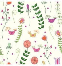 flowers birds vector image