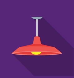 pendant light icon in flat style isolated on white vector image vector image