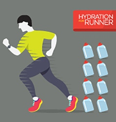Runner With Hydration Bottles vector image