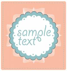 sample text lace design vector image vector image
