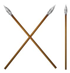 Spear primitive man vector image vector image