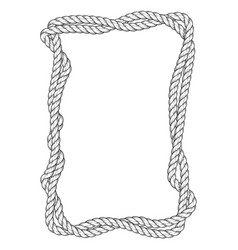 twisted rope frame - two interlaced ropes square vector image vector image