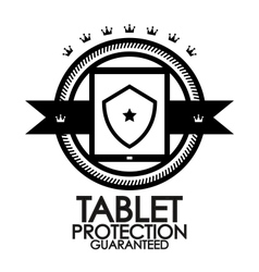 Black retro vintage label tag badge tablet vector image