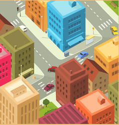 cartoon city - downtown vector image vector image