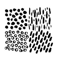 grunge hand drawn brush elements vector image vector image