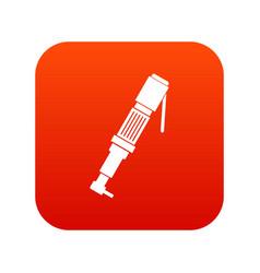 pneumatic screwdriver icon digital red vector image vector image