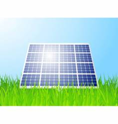 solar panel landscape vector image
