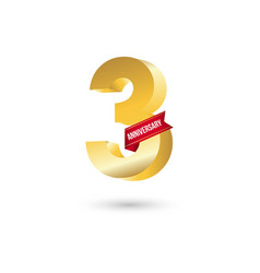 3 year anniversary template design vector