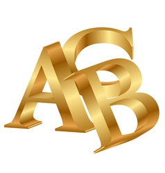 Abc gold letters vector