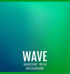 Abstract blue-green bright gradient mesh oriental vector