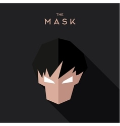 Abstract mask character with hair dark background vector
