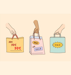 big sale shopping discount in shops concept vector image