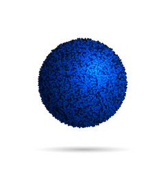 Blue fur ball isolated on white vector