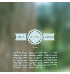 Blurred landscape eco design vector