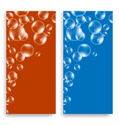 bright leaflets with bubbles vector image