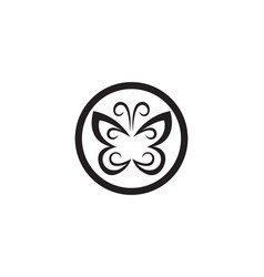 butterfly conceptual simple colorful icon logo vector image