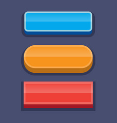 Buttons for games user interface vector