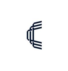 c letter logo icon vector image