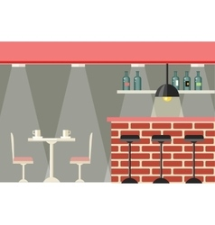 Cafe or Bar Interior Design Flat vector image
