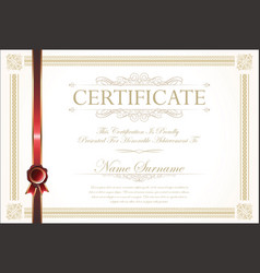 Certificate or diploma template 8 vector