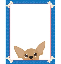 Chihuahua frame vector