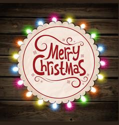 christmas garland light vector image