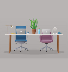 comfortable workplace vector image