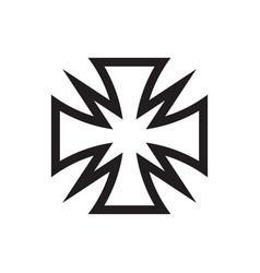 cross icon design maltese sign vector image