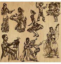 Dancers - hand drawn vector