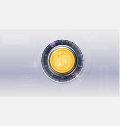 digital concept digital security lock bitcoin vector image