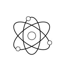 Dotted shape physics orbit chemistry science vector