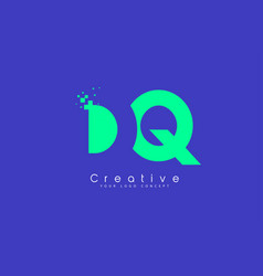 dq letter logo design with negative space concept vector image