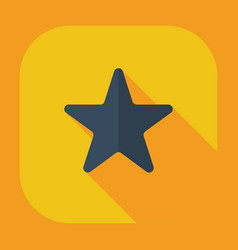 Flat modern design with shadow icons star vector