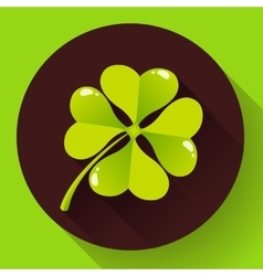 Four-leaf quatrefoil clover icon Flat design vector image