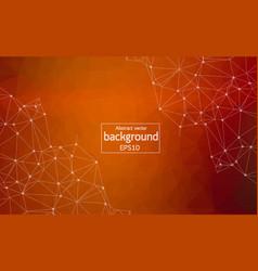 Geometric dark orange polygonal background vector
