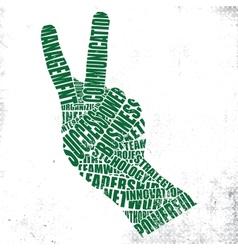 Gestures words vector