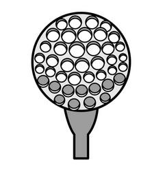 golf sport ball icon vector image