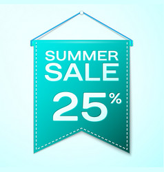 Green pennant with summer sale twenty five vector