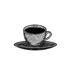 Hand drawn mug glass coffee cup logo designs vector