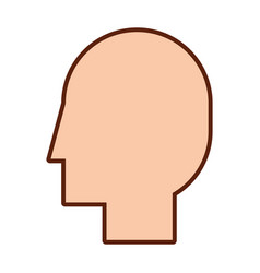 Head profile isolated icon vector