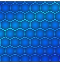 Hexagon cell background vector