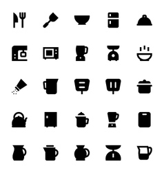 Kitchen Utensils Icons 1 vector image