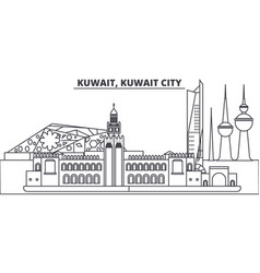 Kuwait kuwait city line skyline vector