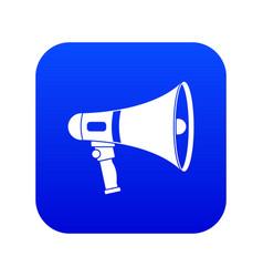 megaphone icon digital blue vector image