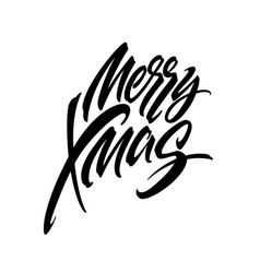Merry christmas hand drawn calligraphy vector