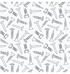 Nails and screws seamless pattern vector image