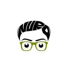 nerd logo design vector image