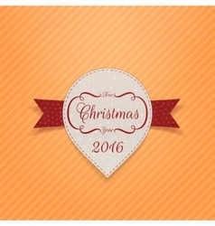 New Year or Christmas realistic Banner with Ribbon vector image