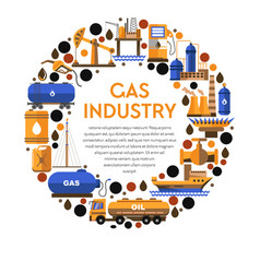 oil mining and gas industry isolated icon factory vector image