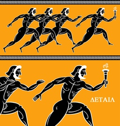 Olympic runners vector